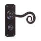 Curled Handle, Ilkley Privacy Plate, Matt Black