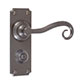 Scrolled Handle, Ilkley Privacy Plate, Polished