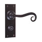 Scrolled Handle, Ripley Privacy Plate, Matt Black