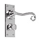 Scrolled Handle, Ripley Privacy Plate, Nickel