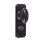 Downley Knob, Ilkley Privacy Plate, Matt Black
