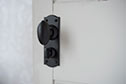Downley Knob, Nowton Privacy Backplate in Matt Black