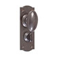 Downley Knob, Nowton Privacy Backplate, Polished