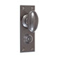 Downley Knob, Ripley Privacy Backplate, Polished