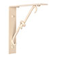 Knotted Shelf Bracket in Plain Ivory