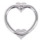 Heart Door Knocker in Nickel