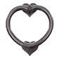 Heart Door Knocker in Polished