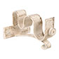 25/12mm Double Pole Centre Bracket in Old Ivory