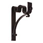 25/12mm Double Pole Standard Bracket in Matt Black