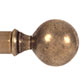 25mm Brass Ball Finial in Antiqued Brass