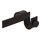 20mm Chapel Centre Bracket with thumbscrew inMatt Black