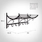 Wendle Luggage Rack in Matt Black