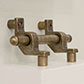 10mm Stair Rod Spacer in Antiqued Brass
