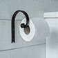 Hatton Loo Roll Holder in Matt Black