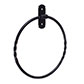 Pembroke Towel Ring in Matt Black