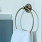 Bletchley Towel Ring in Lacquered Antiqued Brass