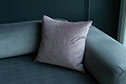 Hunstanton Velvet Cushion Cover in Dusky Pink (50cm x 50cm)