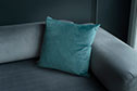Hunstanton Velvet Cushion Cover in Teal (50cm x 50cm)