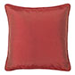 Plain Silk Cushion Cover in Antique Red