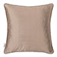 Plain Silk Cushion Cover in Bronze Brown