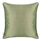 Plain Silk Cushion Cover in Watered Green